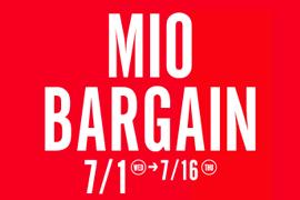 天王寺ミオにて「MIO BARGAIN」開催!